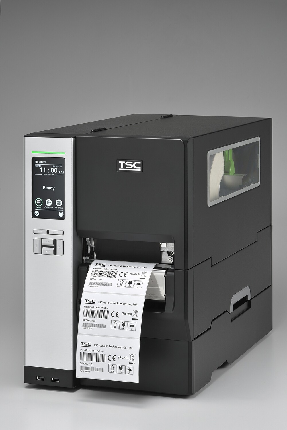 "TSC MH340-P Industrial 4"" Thermal Transfer Printer 300dpi (Rewinder)"