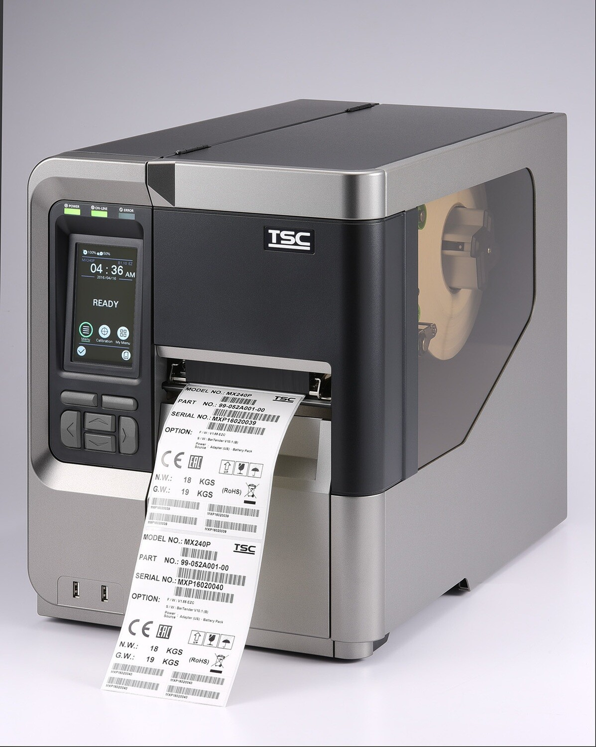 "TSC MX340P Industrial 4"" Thermal Transfer Barcode Printer 300dpi"