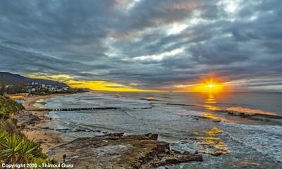 Photo Print - Moody Sunrise Thirroul Beach 00028