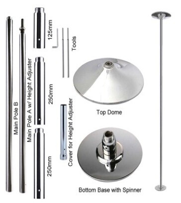Portable Chrome Coated Steel Pole