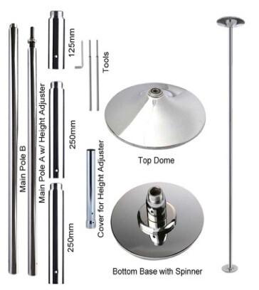 Chrome Coated Steel Pole