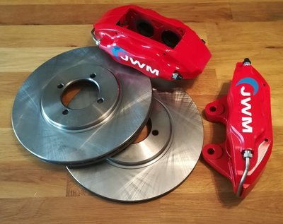 """4 Pot """"Big Brakes"""" Calipers with Vented Discs"""