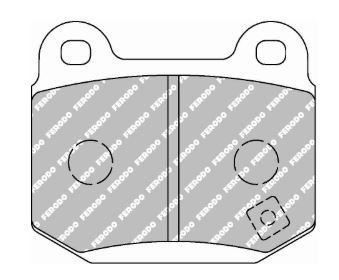 FCP1562 Rear Pads for AP Calipers using Vented Discs DS 2500