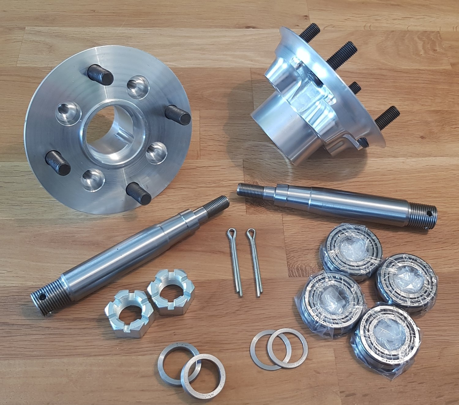 Caterham Forged Aluminium Hub and Stub Axle Upgrade.