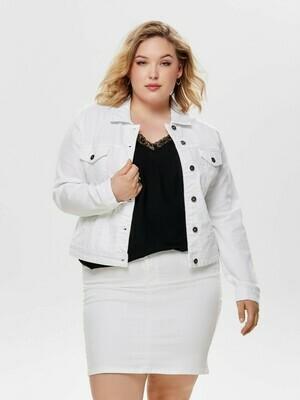 Hvid denim jakke fra Carmakoma!
