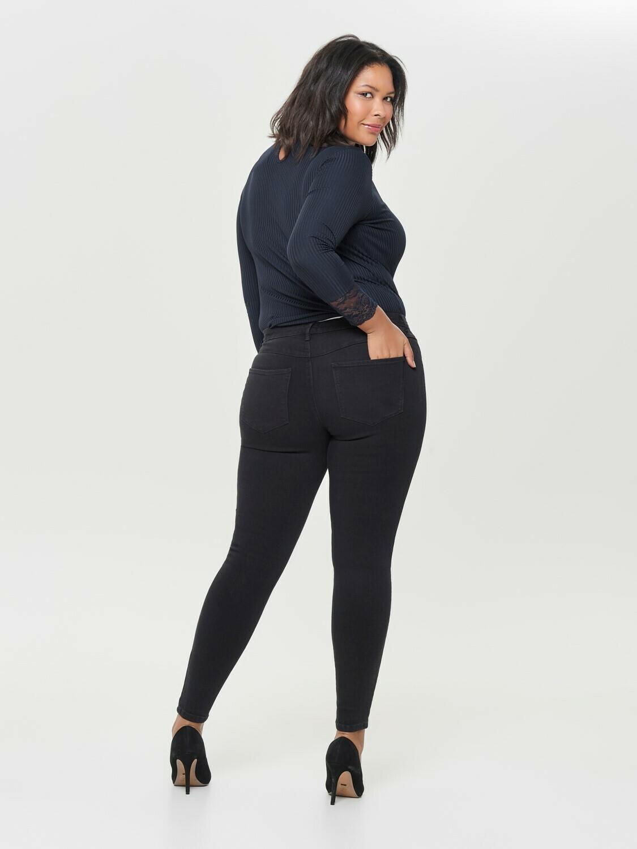 Sorte push-up jeans fra Carmakoma!