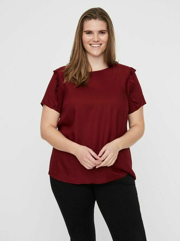 Sød t-shirt med flæsedetalje fra Junarose