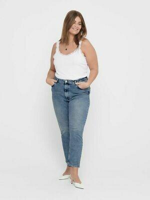 Jeans med høj talje og lige ben fra Carmakoma!