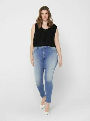 Cool jeans med destroy-detaljer fra Carmakoma!