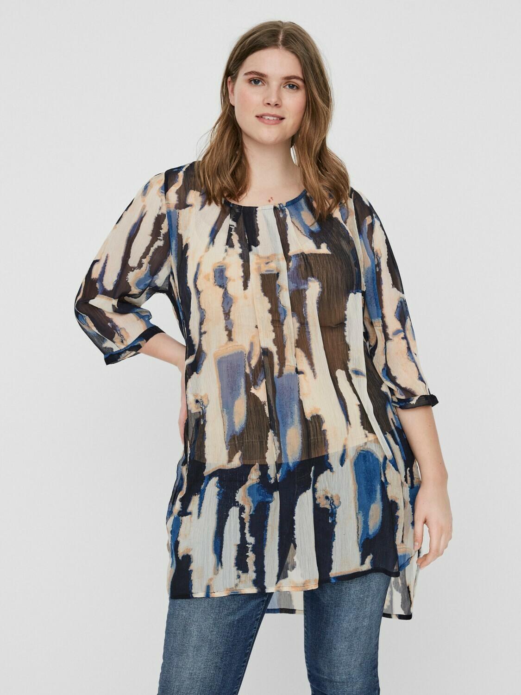 Transparent printet tunic fra Junarose!