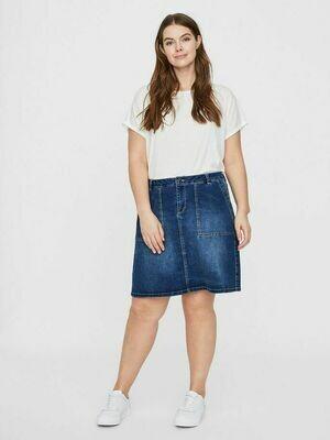 Denim-skirt med lommer fra Junarose!