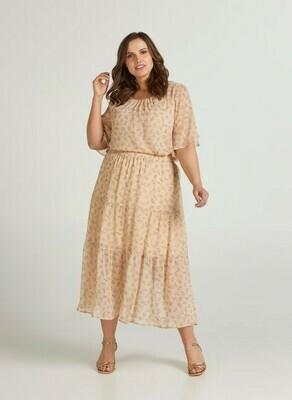 Feminin nederdel med elastik i livet fra Zizzi