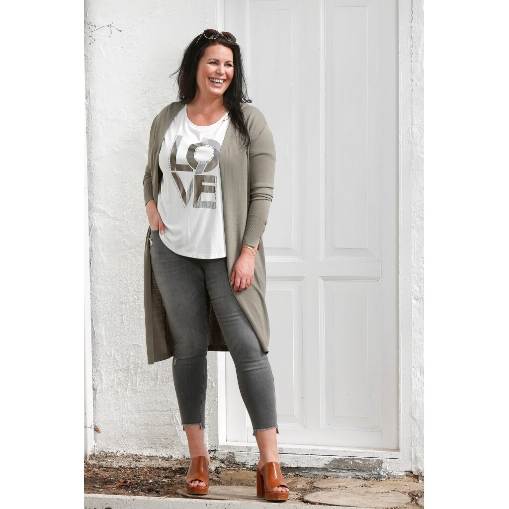 Fede grå jeans med slid fra Zoey