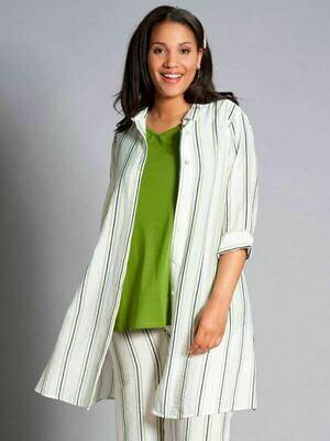 Skjorte-tunika med grønne striber fra Studio