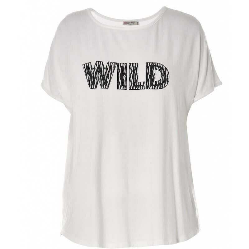 Jersey t-shirt med print fra Gozzip