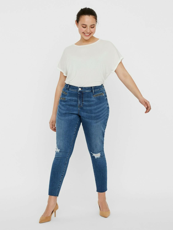 Fede destroyed jeans fra Vero Moda Curve!