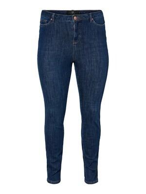Jeans med høj talje og smalle ben fra Junarose