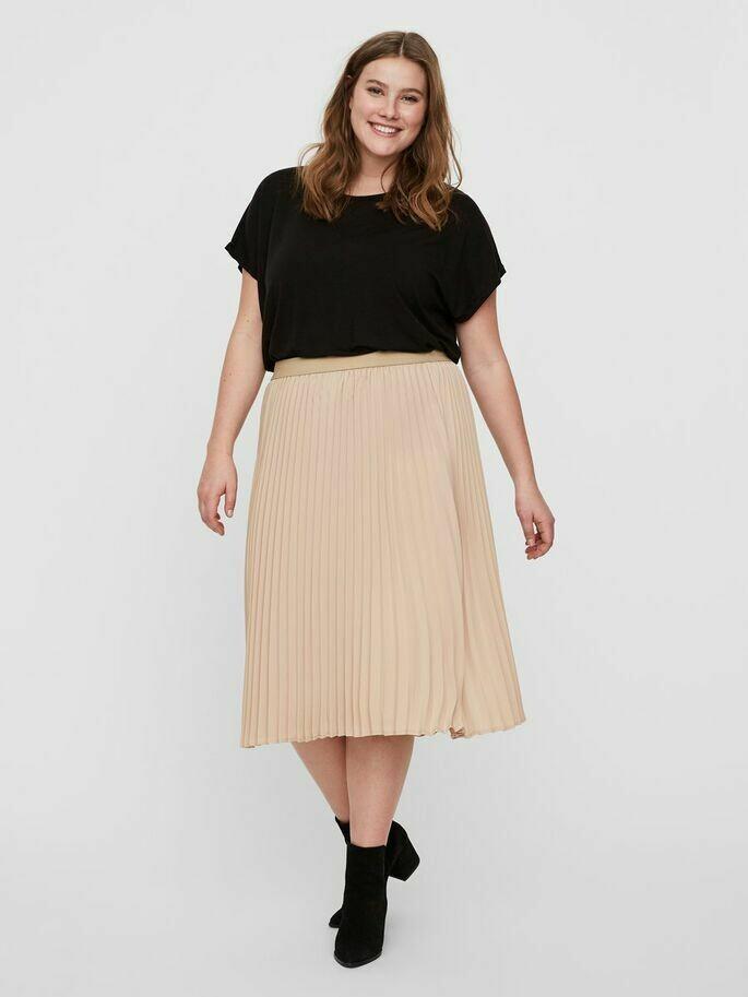 Plisseret nederdel fra Junarose