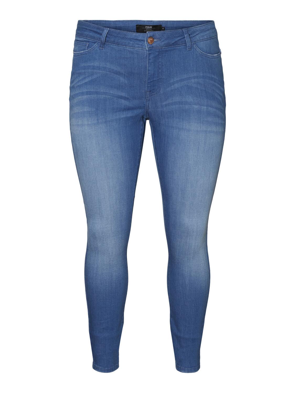 Jeans med normal talje og smalle ben fra Junarose