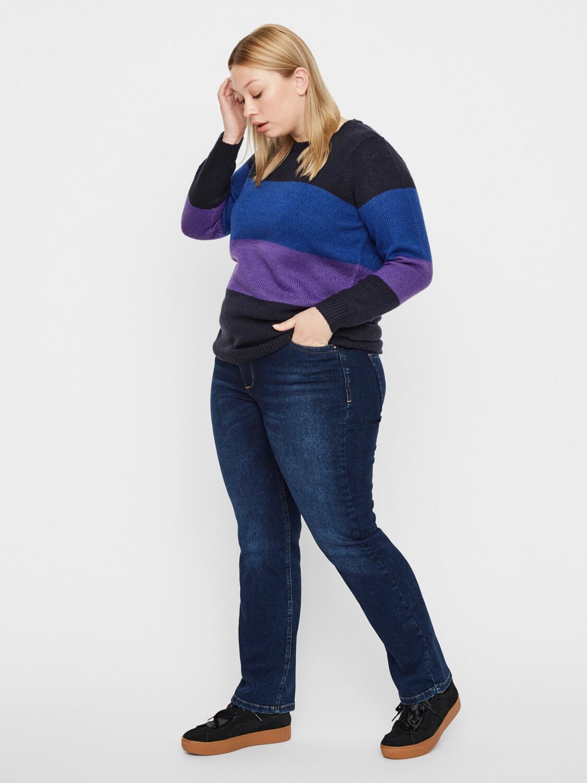 Mørkeblå jeans med lige ben fra Junarose