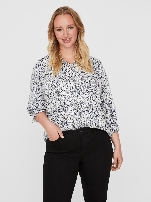 Sød mønstret bluse fra Junarose.