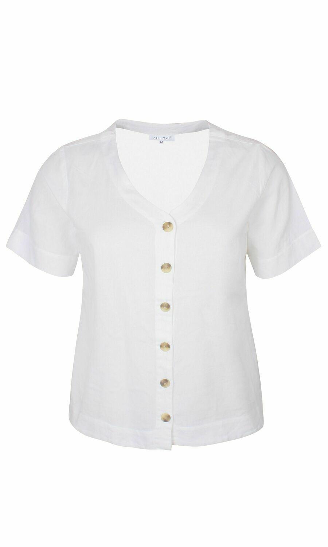 Skjorte i bomuld/hør fra Zhenzi