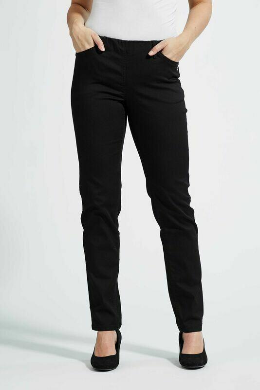 Sorte Kelly jeans med regular pasform fra Laurie