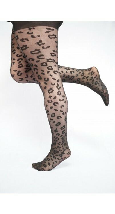 Strømpebuks med leopardmønster fra Pamela Mann.