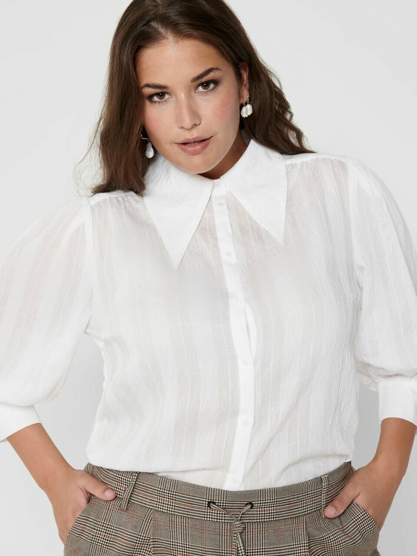 Cool skjorte med spidse flipper fra Carmakoma!