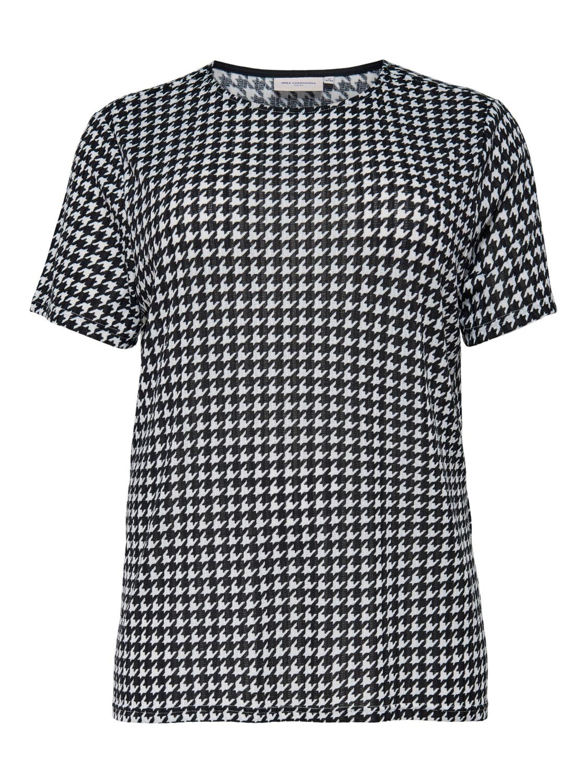 T-shirt med Houndtooth print fra Carmakoma.