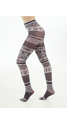 Strømpebukser med vinter-print fra Pamela Mann.