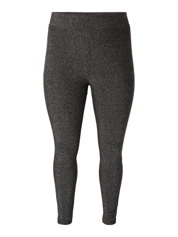 Sølv-glitter leggings fra Vero Moda Curve!
