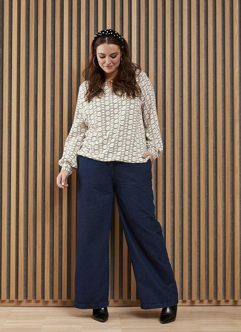 Trendy jeans med brede ben fra Zhenzi!