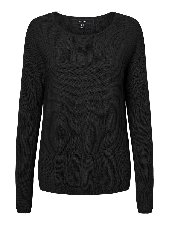 Lækker basic-bluse i rib fra Vero Moda Curve!