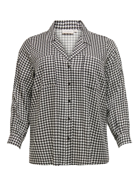 Skjorte med Houndtooth print fra Carmakoma.