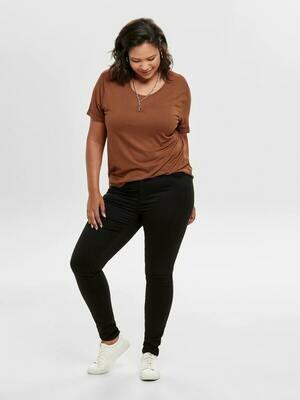 Sorte jeans med høj talje og smalle ben fra Carmakoma!