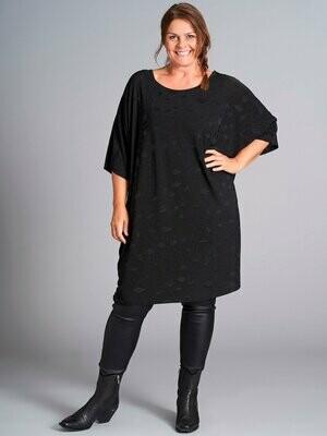 Oversize tunika med glitter-mønster fra Gozzip