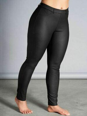 Coated legging i skind-look fra Studio