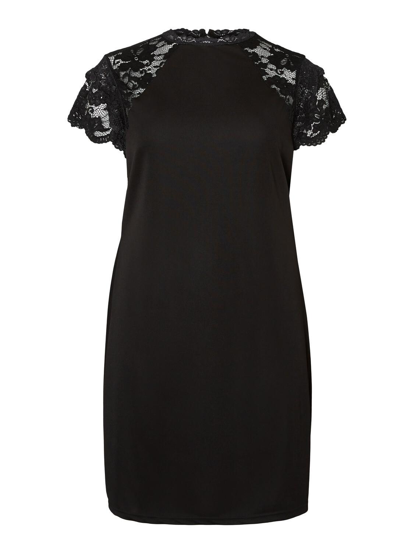 Kjole med blonderyg fra Vero Moda Curve