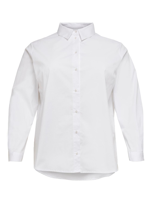 Klassisk hvid skjorte med god længde fra Carmakoma!