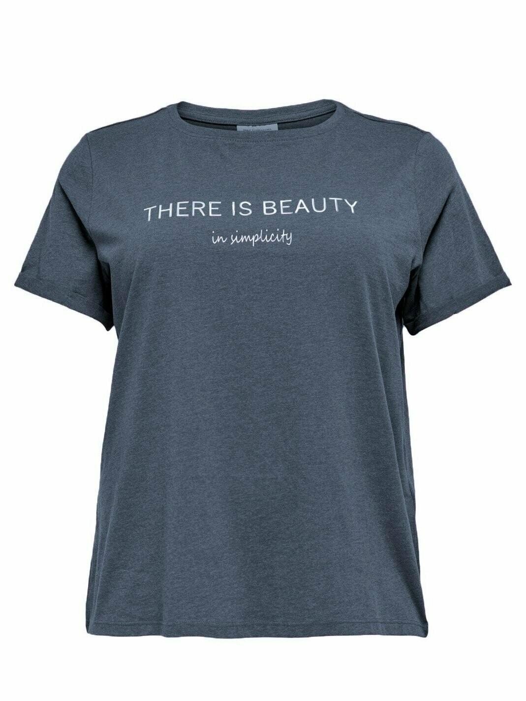 Sød og enkel t-shirt i økologisk bomuld fra Carmakoma.