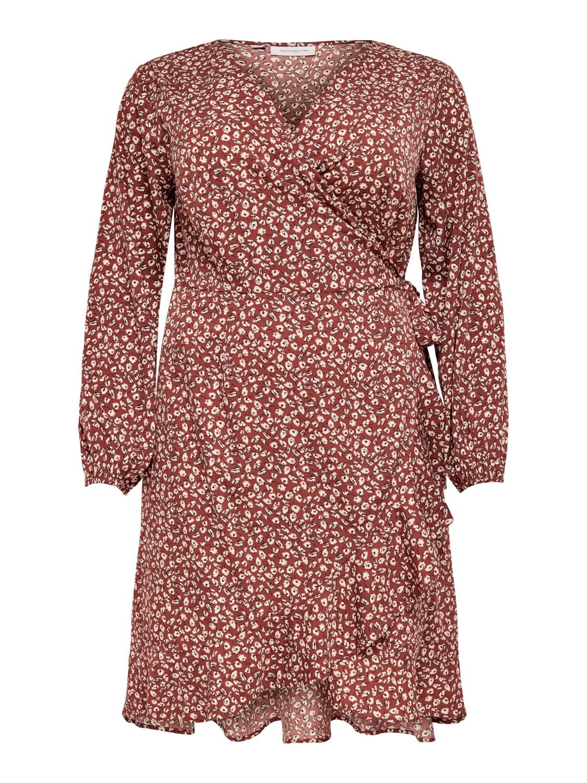 Kjole med slå-om detalje fra Carmakoma