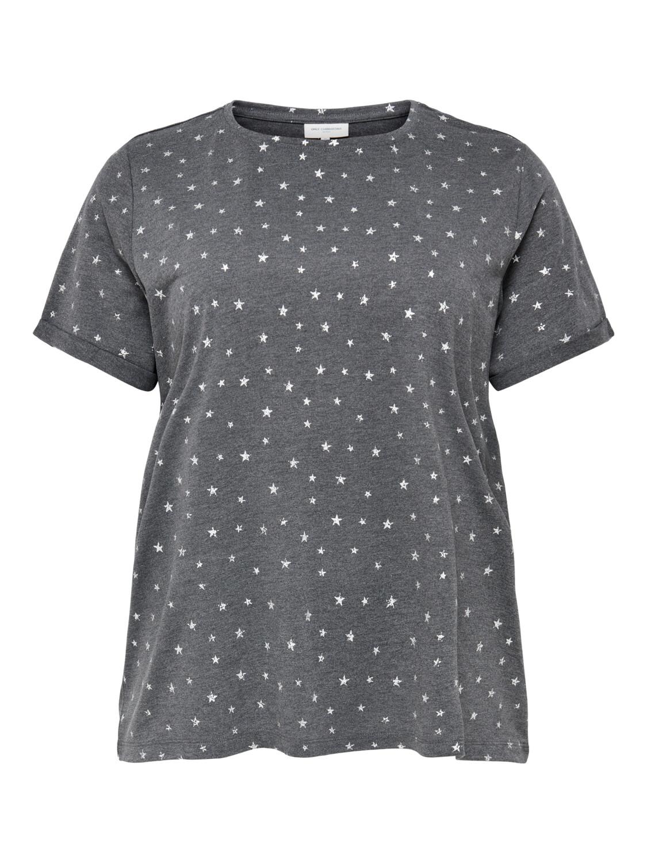 T-shirt med stjerner fra Carmakoma!