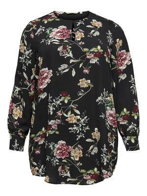 Printet bluse med lange ærmer fra Carmakoma!