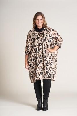 Smart oversize kjole med print fra Gozzip