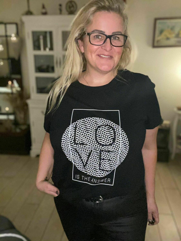 Bomulds t-shirt fra Kaffe Curve