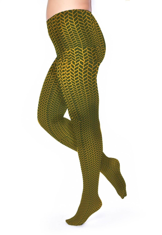 Strømpebukser Army Herringbone fra Pamela Mann.