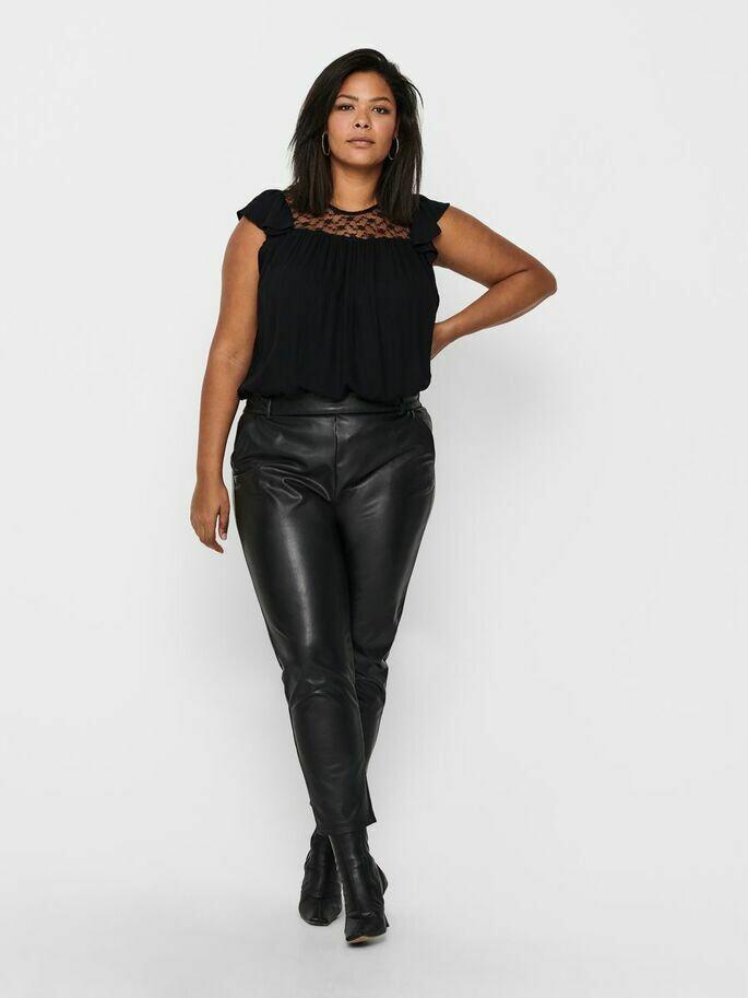 PU-bukser i løstsiddende model fra Carmakoma!