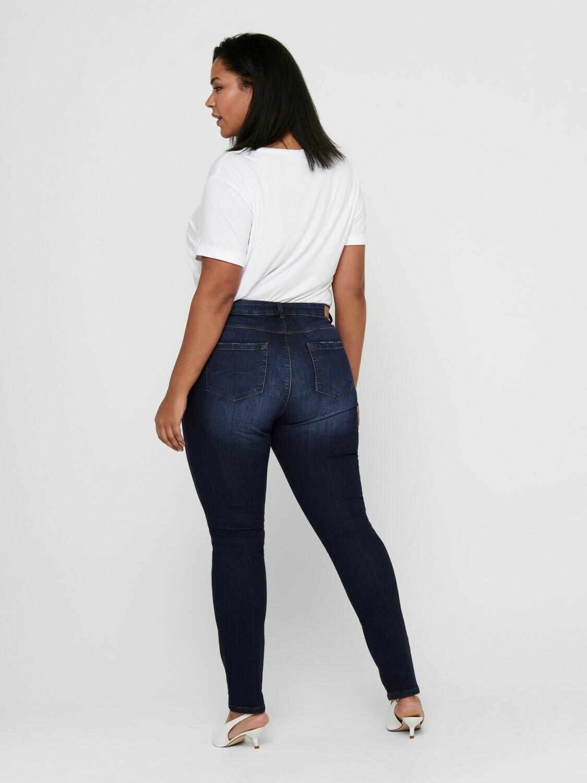 Jeans med høj talje og smalle ben fra Carmakoma