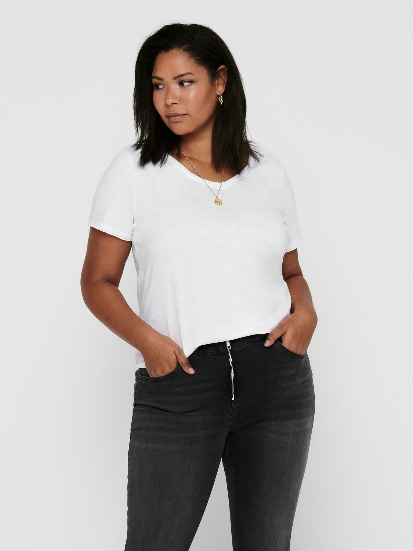 Basis t-shirt fra Only Carmakoma